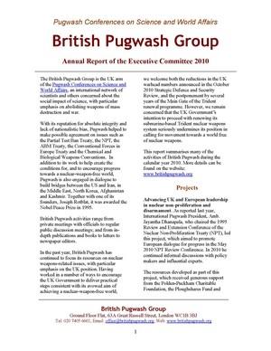 Annual report 2010 - cover