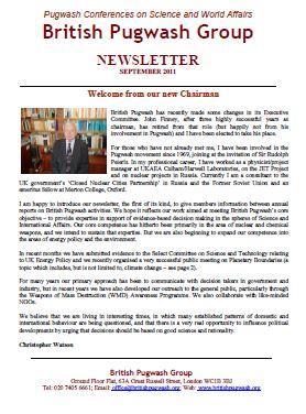 Newsletter 2011 cover