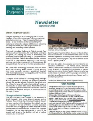 Newsletter 2013 cover