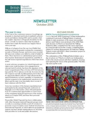 British Pugwash Newsletter 2015