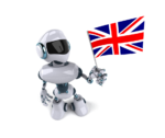 Robot with UK flag