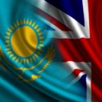 Kazakh & UK flags merged